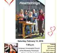 Saturday, February 13th, 2016 ~ Unitarian Universalist Church